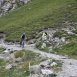 Steile Abfahrt ins Schlinigtal