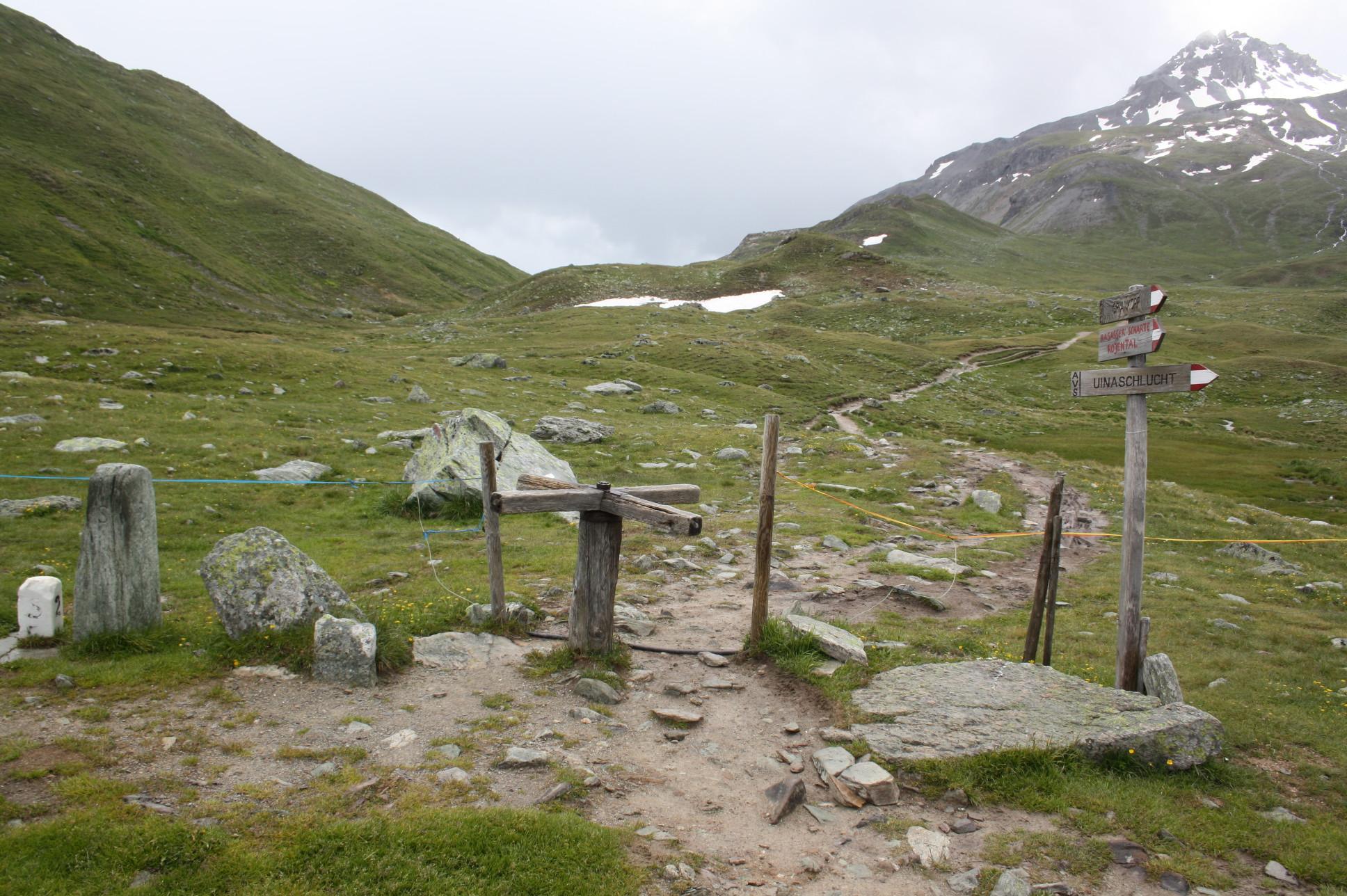 Grenze zwischen Schweiz und Italien